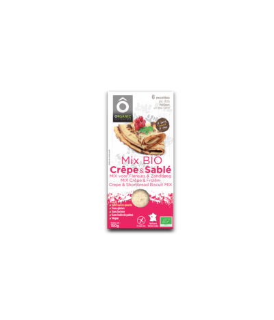 Mix Pâtissier Crêpe & Sablé BIO Vegan sans gluten sans sucres ajoutés